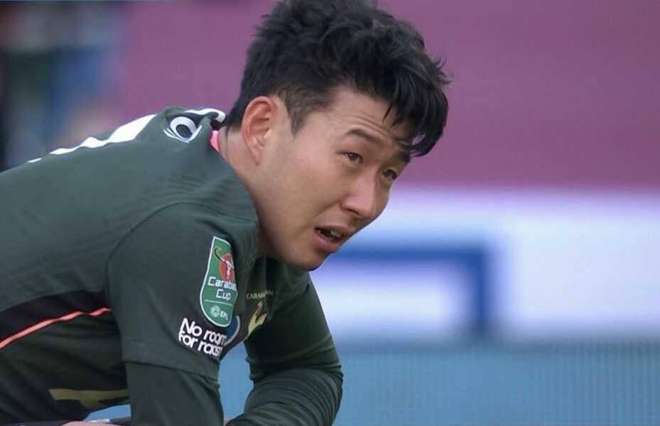 Son Cried after Losing the EFL Cup to City